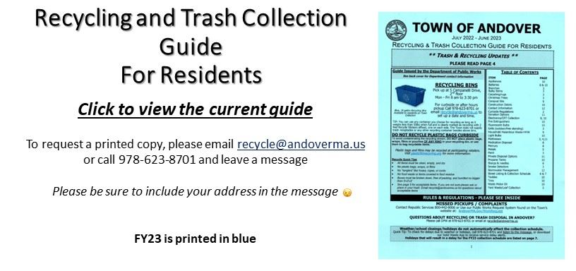Recycling and Trash Guide FY 2020