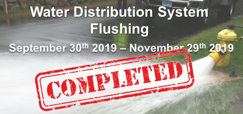 Distribution System Flushing will take in the eastern part of town this fall