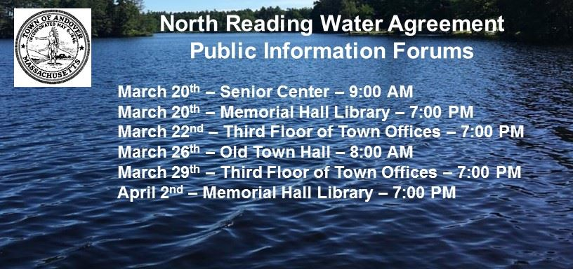 North Reading Water Agreement Andover Ma