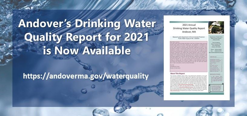 Andover's Drinking Water Quality Report for 2017 is now available