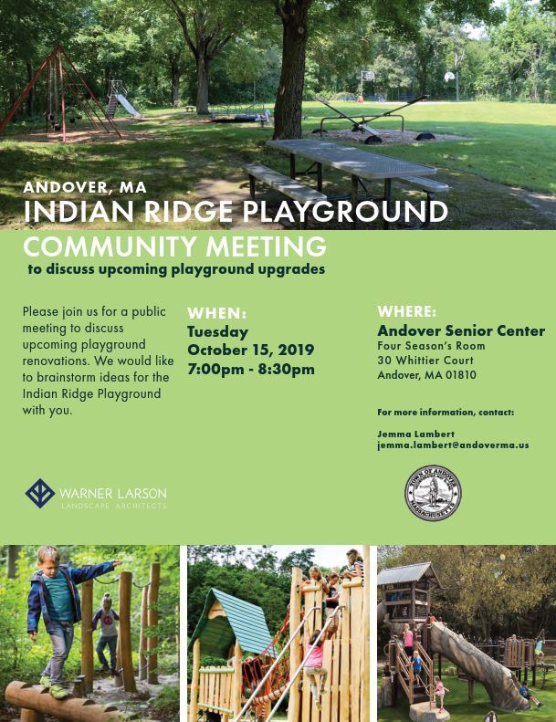 Indian Ridge Playground Meeting Flyer