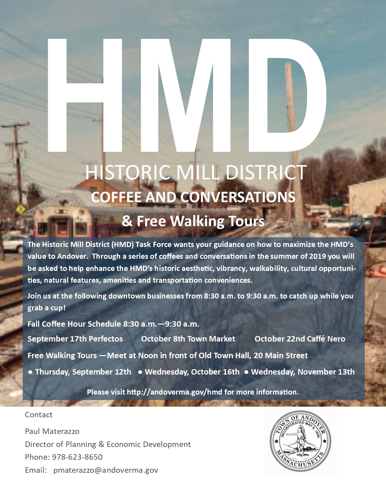 Fall 2019 HMD Survey Coffee and Conversations and Walking Tour