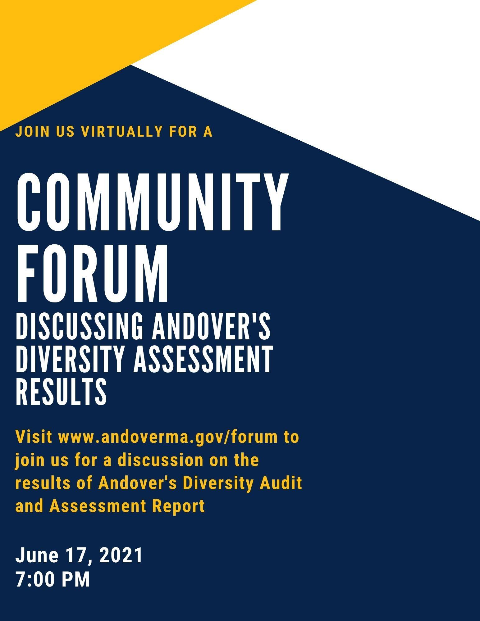 second Community Forum flyer